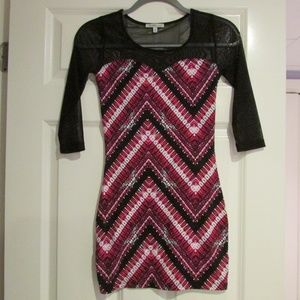 Charlotte Russe Patterned body con dress